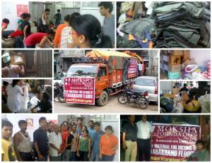 The Uttarakhand Flood Relief Campaign - Collection and Dispatch